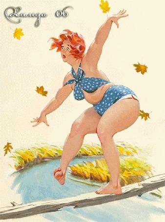 Анимация Очаровательная и милая толстушка Хильда, художник Дуэйн Брайерс / Duane Bryers (Хильда 06)