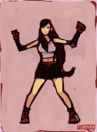 Анимация Танцующая Tifa Lockhart / Тифа Локхарт из игры Final Fantasy VII, by michaelfirman