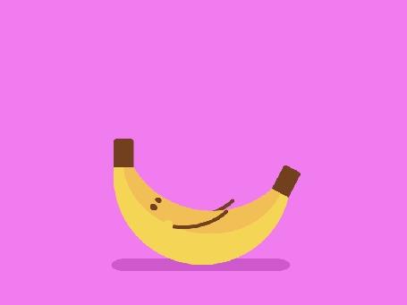 Анимация Банан пытается встать