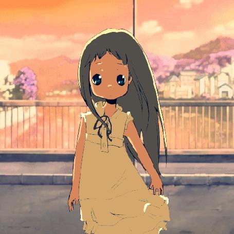 Анимация Menma (Meiko Honma) / Мэнма (Мэйко Хонма) из аниме Невиданный цветок / Anohana, by Kiikuri