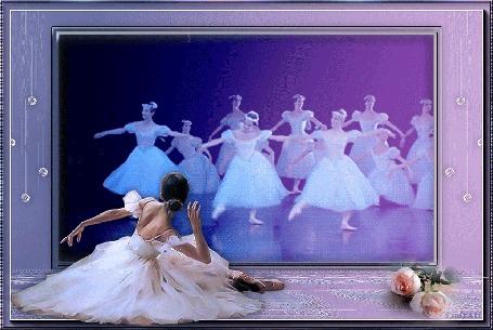 Анимация Прекрасное выступление балерин