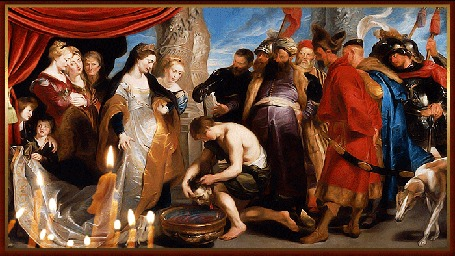Анимация Иродиаде принесли голову св. Иоанна Крестителя