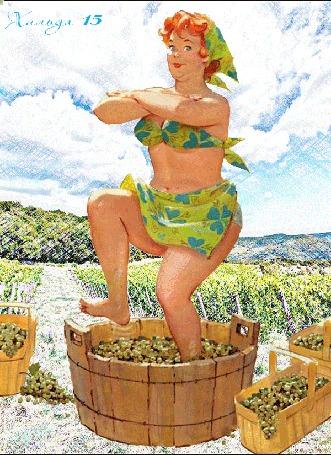 Анимация Толстушка Хильда танцует на винограде, art by Дуэйн Брайерс / Duane Bryers