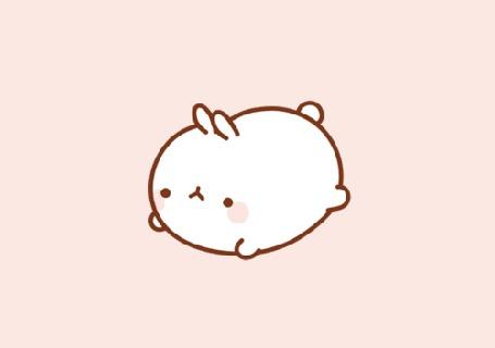 Анимация Molang rabbit / Кролик Моланг переворачивается с боку на бок