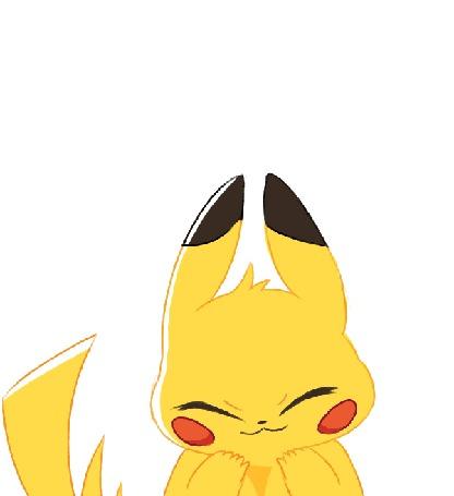 Анимация Pikachu / Пикачу из аниме Pokemon / Покемон, by Sushirolled
