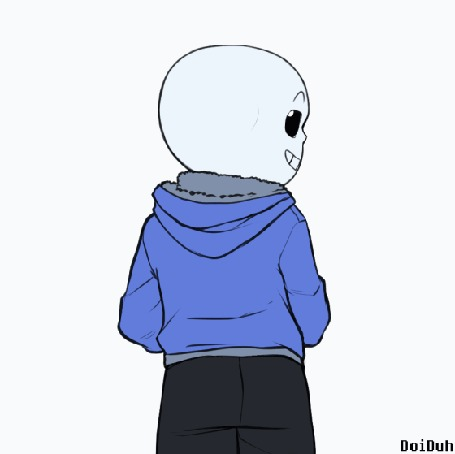 Анимация Санс / Sans из игры Undertale, by DoiDuh