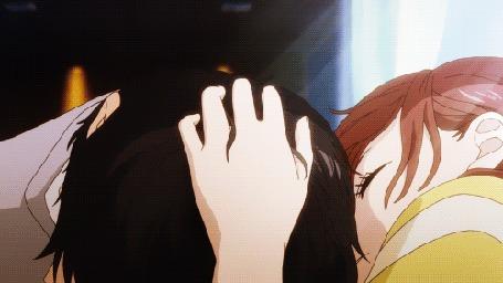 Анимация Mabuchi Kou / Мабучи Коу и Yoshioka Futaba / Ешиока Футаба из аниме Ao Haru Ride / Неудержимая юность / Дорога юности