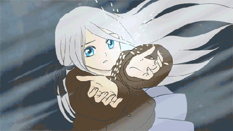 Анимация Белокурая девушка с волшебным шаром в руках, by mayshing