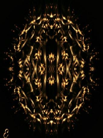 Анимация Абстрактный фрактал на черном фоне
