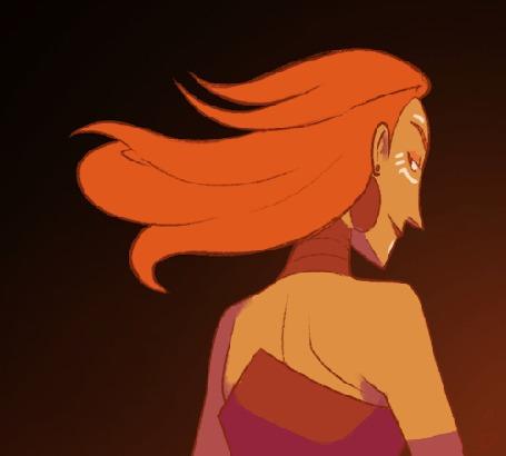 Анимация Лина / Lina из игры Dota 2