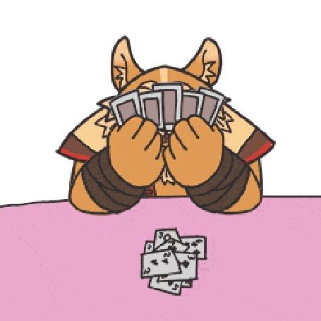 Анимация Три фантастических пса играют в карты