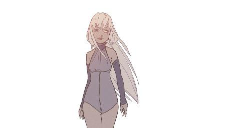 Анимация Белокурая девушка на белом фоне, by DoraIIngrid