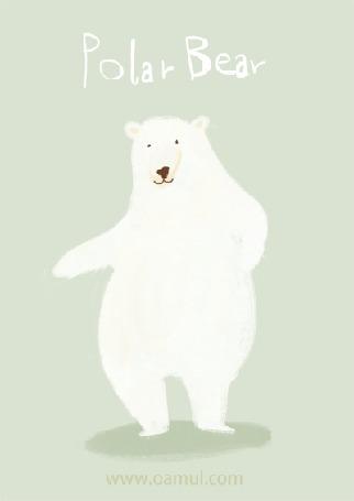 Анимация Танцующий полярный медведь