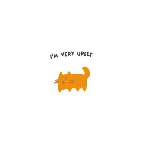 Анимация Рыжий кот жалуется (I m very upset / Я очень расстроен)