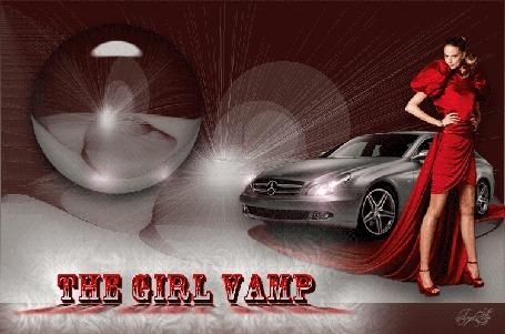Анимация Девушка стоит рядом с машиной. by tim2ati/