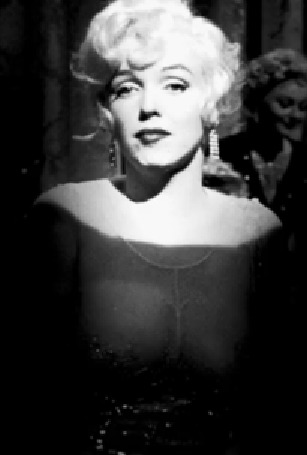 Анимация Американская актриса Мэрилин Монро / Marilyn Monroe в прозрачном платье закатывает глаза, кадры из фильма В джазе только девушки / Some Like It Hot