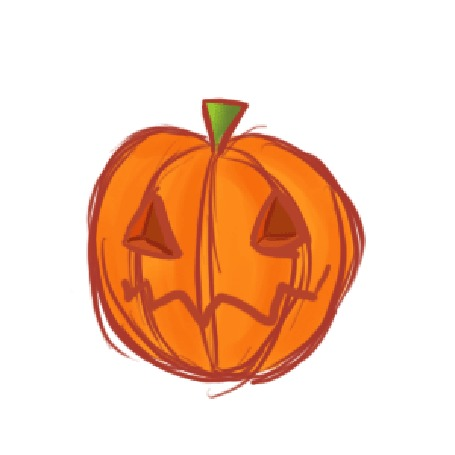 Анимация Черный кот выглядывает из-за тыквы-светильника Джека, Halloween / Хэллоуин, by psyAlera