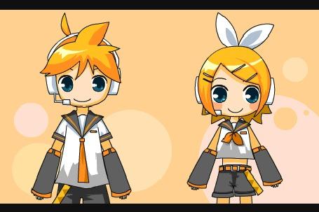 Анимация Вокалоид Кагамине Лен / Vocaloid Kagamine Len и Кагамине Рин / Kagamine Rin