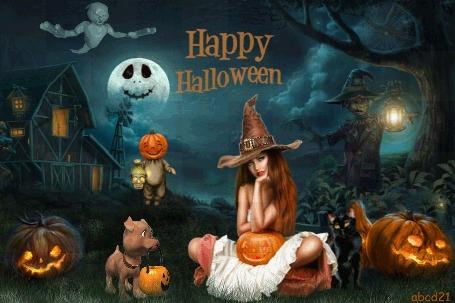 Анимация В ночь на Хэллоуин