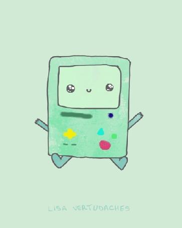 Анимация БиМО / BMO из мультсериала Время приключений / Adventure time, by Lisa Vertudaches