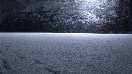 Анимация Мелкий падающий снег