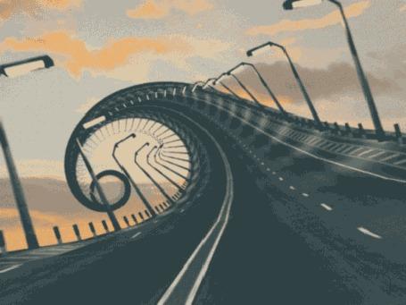 Анимация Закручивающая дорога в некуда