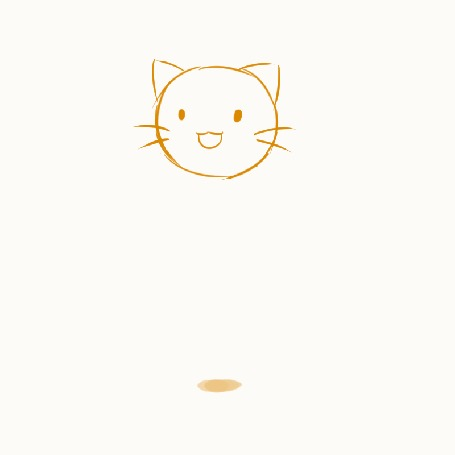 Анимация Прыгающая на месте мордочка кота, by whymeiy