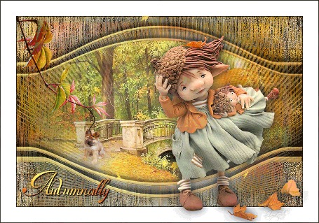 Анимация Девочка с куколкой на природе. by tim2ati