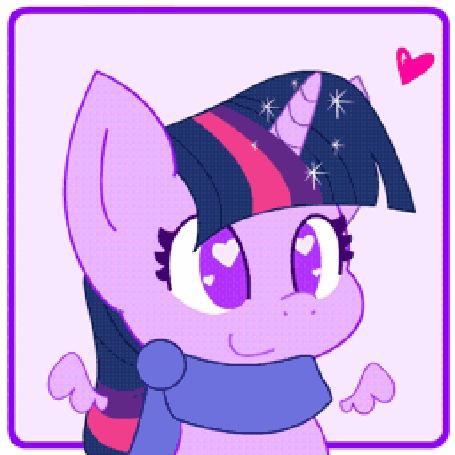 Анимация Сумеречная Искорка / Twilight Sparkle из мультсериала Мой маленький пони: Дружба – это чудо / My Little Pony: Friendship is Magic / MLP:FiM, by HungrySohma16