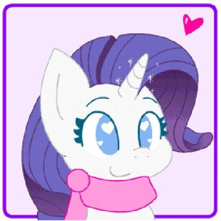 Анимация Рарити / Rarity из мультсериала Мой маленький пони: Дружба - это чудо / My Little Pony: Friendship is Magic / MLP:FiM, by HungrySohma16