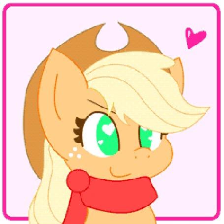 Анимация Эпплджек / Applejack из мультсериала Мой маленький пони: Дружба – это чудо / My Little Pony: Friendship is Magic / MLP:FiM, by HungrySohma16