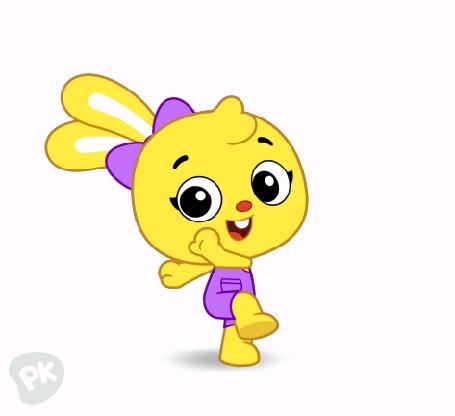 Анимация Смешной кролик весело танцует, by PlayKids