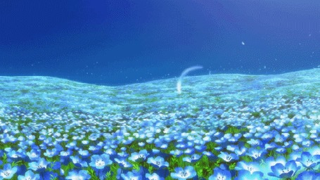 Анимация Поле голубых цветов, аниме Невеста чародея / The Magicians Bride / Mahou Tsukai no Yome
