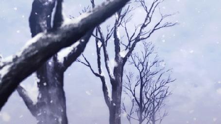 Анимация Медленно падающий снег