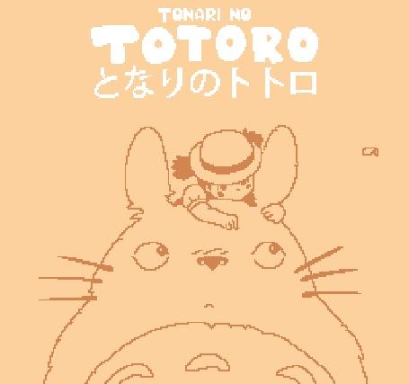 Анимация Мей Кусакабэ / Mei Kusakabe и Тоторо / Totoro из аниме Мой сосед Тоторо / My Neighbor Totoro / Tonari no Totoro