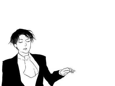 Анимация Кружащий в танце Леви Райвель (Ривай) / Levi Rivaille (Rivai) из аниме Shingeki no Kyojin / Атака Титанов / Вторжение гигантов