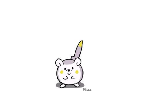 Анимация Togedemaru / Тогедемару из аниме Покемон: Солнце и луна / Pokemon Sun & Moon, by Fluna