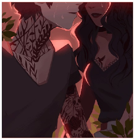 Анимация С лиц парня и девушки капают слезы