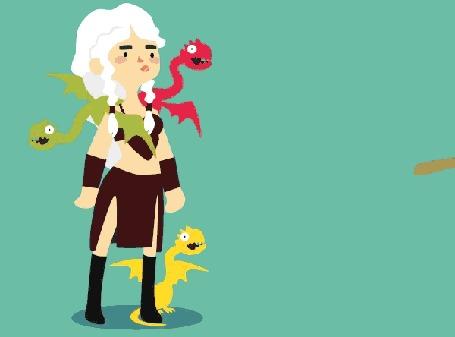 Анимация Неудачное нападение Joffrey Baratheon / Джофри Баратеона на Daenerys Targaryen / Дейнерис Таргариен из сериала Game Of Trones / Игра Престолов