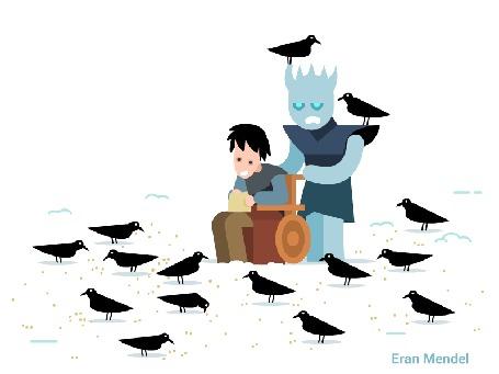 Анимация Night King / Король Ночи и Bran Stark / Бран Старк из сериала Game Of Trones / Игра Престолов, by Eran Mendel