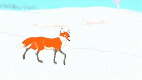 людей занимаются, анимационная картинка волк и лиса фон