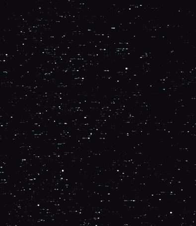 Анимация Объемный снег на черном фоне