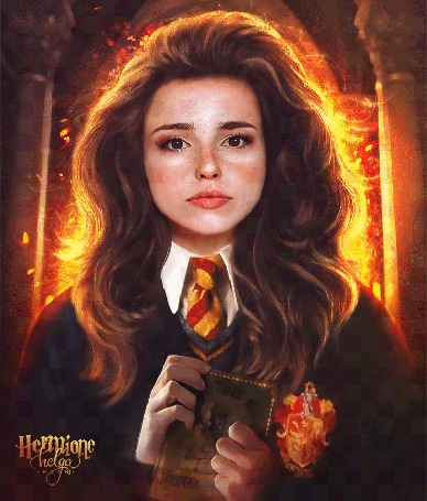 Анимация Hermione Granger / Гермиона Грейнджер, art by push-pulse
