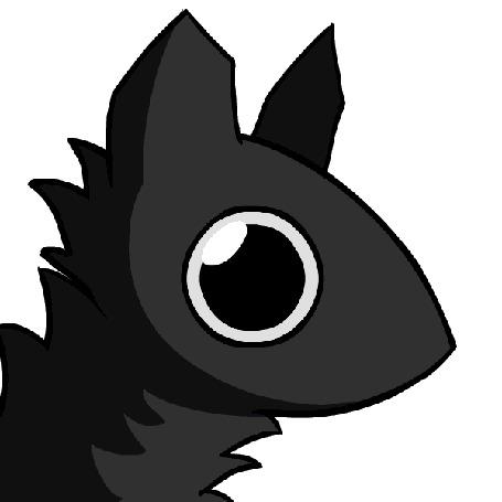 Анимация Черное животное в профиль, by TheFlippmeister