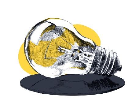 Анимация Мигающая лампочка, art by Zelie Dethorey