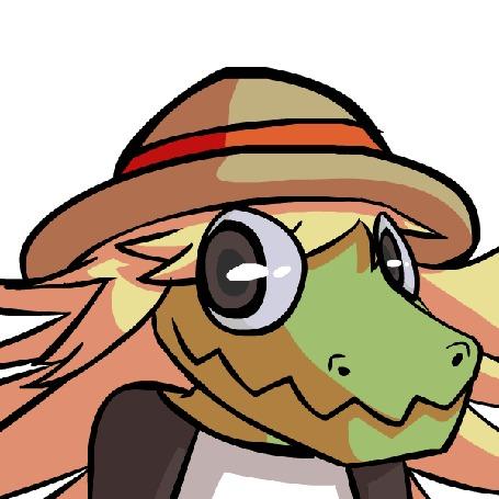 Анимация Крокодильчик с шапкой, by TheFlippmeister