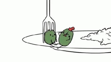 Анимация Трагедия двух влюбленных оливок