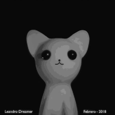Анимация Мяукающий кот, by LeandroDreamer