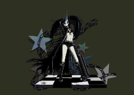 Анимация Темное отражение Mato Kuroi / Мато Курой из альтернативного мира аниме Black Rock Shooter / Стрелок с Черной Скалы, by Z-studios