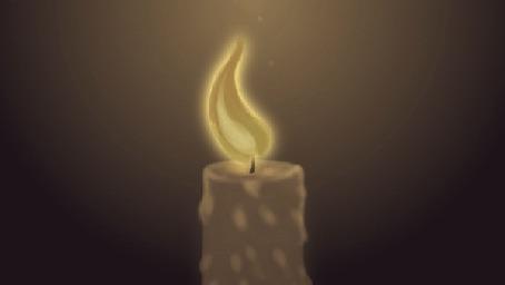 Анимация Огонь свечи качается в разные стороны, by Liphoeryx